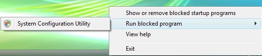 Run blocked program